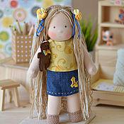 Куклы и игрушки ручной работы. Ярмарка Мастеров - ручная работа Вальдорфская кукла Дашенька, 30 см. Handmade.