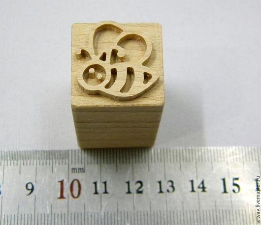 """Штампы для мыла ручной работы. Ярмарка Мастеров - ручная работа. Купить Штамп деревянный для мыла """"Пчелка"""". Handmade. Коричневый"""