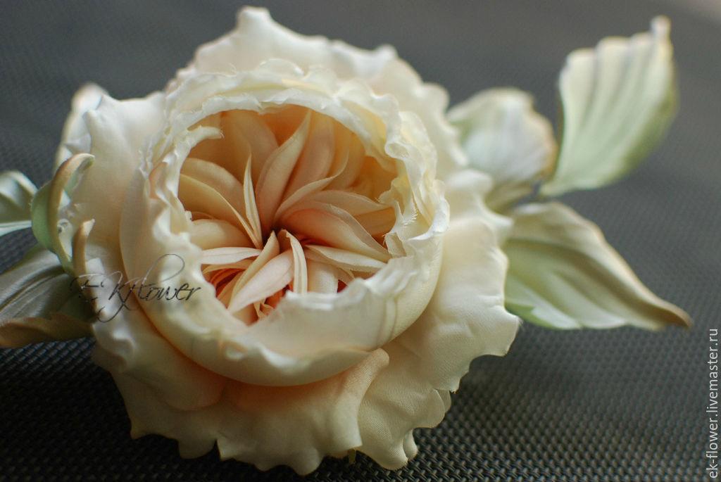 Flowers made of fabric. Silk flowers.Rose ' Anna', Flowers, St. Petersburg,  Фото №1