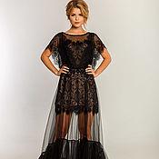 Одежда ручной работы. Ярмарка Мастеров - ручная работа Черное вечернее платье 1+1. Handmade.