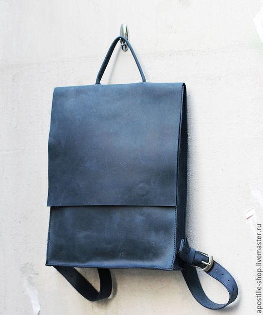 Рюкзаки ручной работы. Ярмарка Мастеров - ручная работа. Купить Рюкзак GoTravel Vintage 4.0 Deep Blue. Handmade.