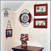 Картины и панно ручной работы. Ярмарка Мастеров - ручная работа Набор деревянных рамочек с репродукцией. Handmade.