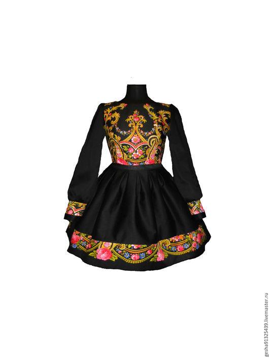 """Платья ручной работы. Ярмарка Мастеров - ручная работа. Купить Платье """"Аркадия"""" русский стиль-продано только под заказ в имеющ тканях. Handmade."""