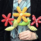 Цветы и флористика ручной работы. Ярмарка Мастеров - ручная работа Летние цветы. Handmade.