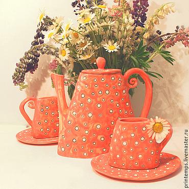 Посуда ручной работы. Ярмарка Мастеров - ручная работа Сервиз Летний чай. Handmade.