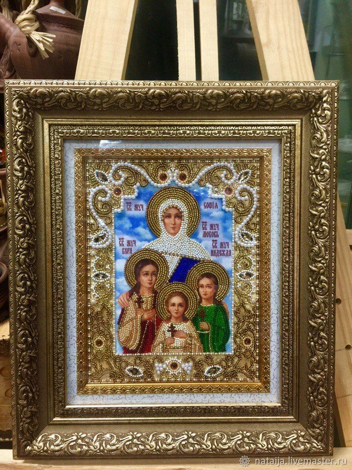 The icon of the Holy martyrs Faith Hope love and their mother Sophia, Icons, Saransk,  Фото №1