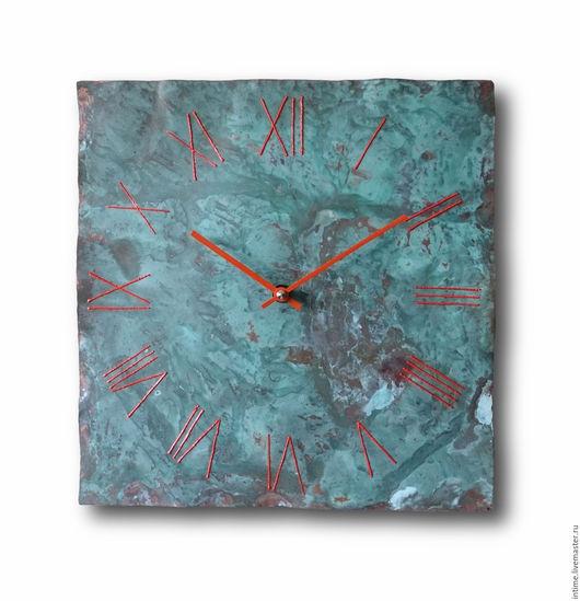 Часы для дома ручной работы. Ярмарка Мастеров - ручная работа. Купить Часы с зеленой патиной. Handmade. Настенные часы