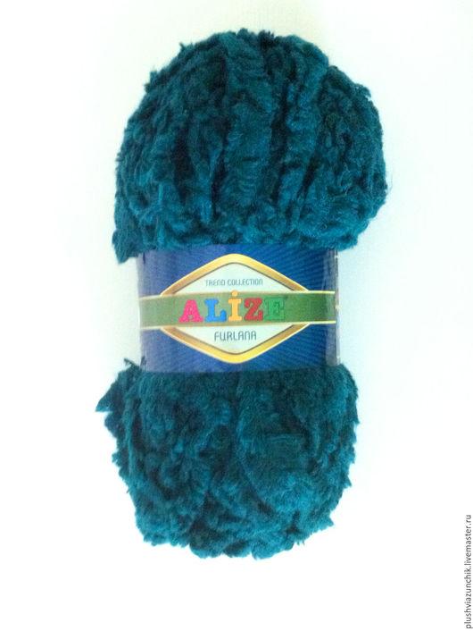 Вязание ручной работы. Ярмарка Мастеров - ручная работа. Купить Пряжа ALIZE Furlana. Handmade. Морская волна