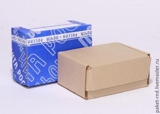 Упаковка ручной работы. Ярмарка Мастеров - ручная работа. Купить Почтовая коробка Д №2 бурая. Handmade. Белый, гофрокартон