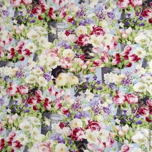 Шитье ручной работы. Ярмарка Мастеров - ручная работа. Купить Ткань хлопок Весна в саду. Handmade. Пэчворк, лоскутное шитье