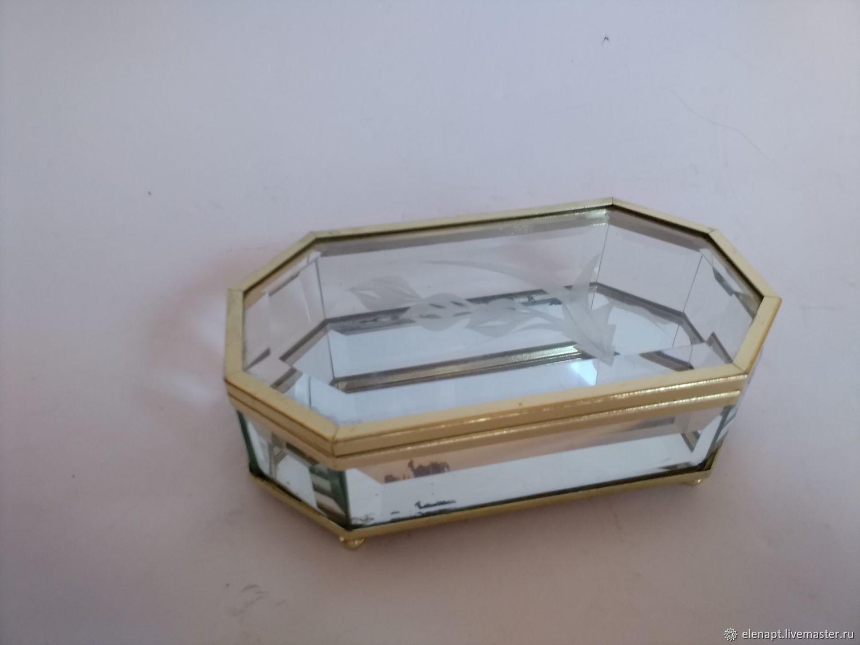 A wonderful crystal jewelry box, Vintage interior, ,  Фото №1