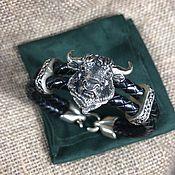 handmade. Livemaster - original item Leather bracelet