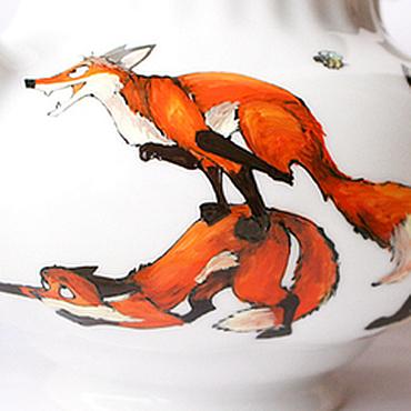 Посуда ручной работы. Ярмарка Мастеров - ручная работа Большой лисий чайник (0829). Handmade.