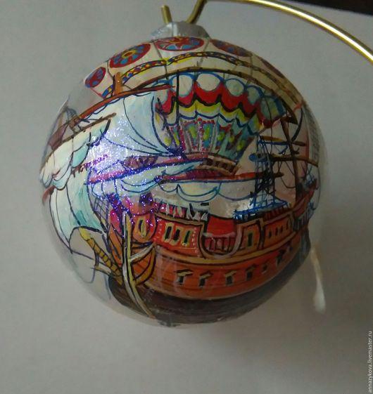 """Новый год 2017 ручной работы. Ярмарка Мастеров - ручная работа. Купить """"Летучий корабль"""". Handmade. Рыжий, воздушный шар, романтика"""