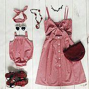 Одежда ручной работы. Ярмарка Мастеров - ручная работа Комплекты одежды для мамы и дочки. Handmade.