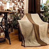 Пледы ручной работы. Ярмарка Мастеров - ручная работа Большой вязаный  плед из 100% верблюжьей пряжи. Handmade.