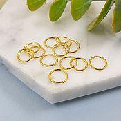 handmade. Livemaster - original item 10 PCs. Connecting rings 8x0.8. 5352 mm gold-plated (). Handmade.