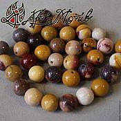Материалы для творчества handmade. Livemaster - original item Jasper, mucahit 12 mm smooth beads (natural stone). Handmade.