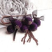 Украшения handmade. Livemaster - original item Purple brooch pin. Velvet berries.. Handmade.