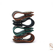 Сувениры и подарки handmade. Livemaster - original item Holder earphone leather on the button.( Cord Holder). Handmade.