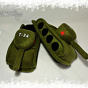 Обувь ручной работы handmade. Livemaster - original item Slippers-tanks. Handmade.