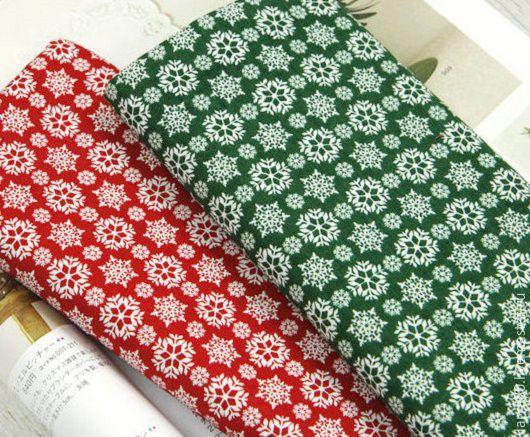Шитье ручной работы. Ярмарка Мастеров - ручная работа. Купить 2 цвета Хлопок К3-35, К3-36 снежинки Корея. Handmade.