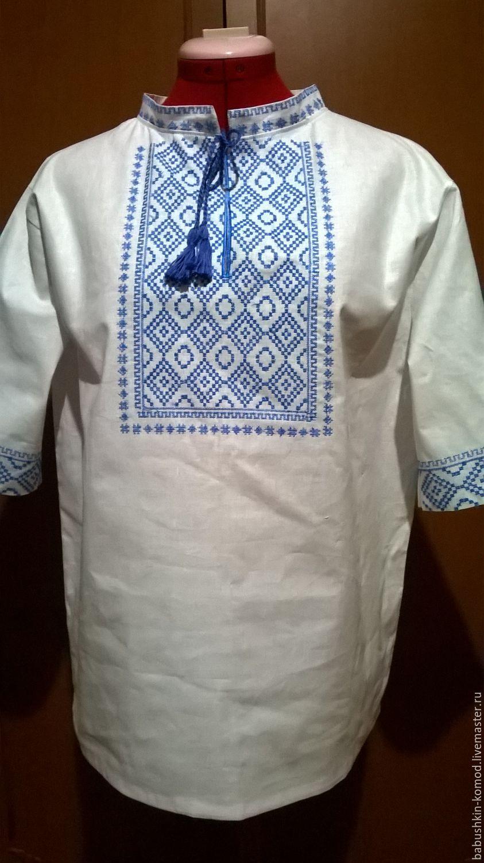 Men's embroidered shirt MP3-63, Mens shirts, Temryuk,  Фото №1
