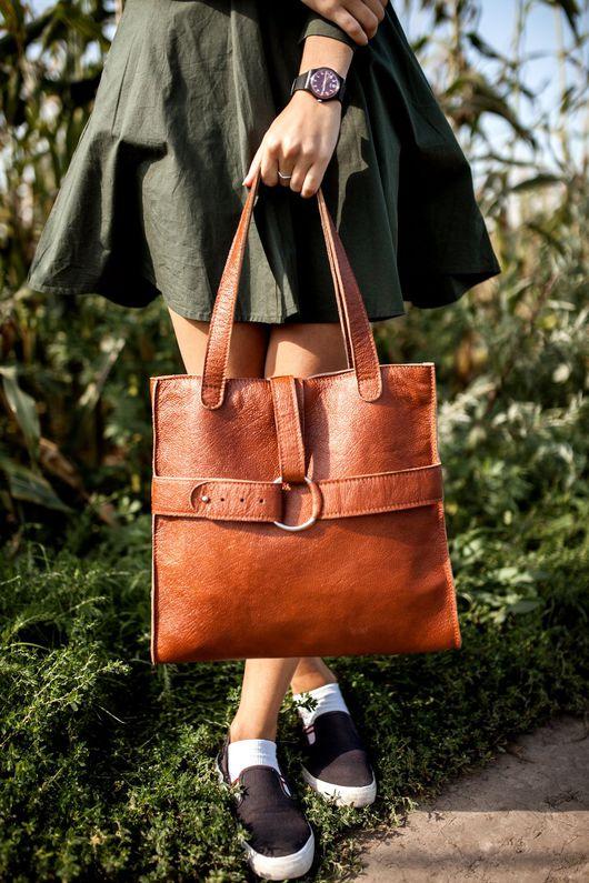Женские сумки ручной работы. Ярмарка Мастеров - ручная работа. Купить Сумка через плечо. Handmade. Рыжий, сумка
