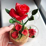 Цветы и флористика handmade. Livemaster - original item The red rose under the hood. Red rose under the dome. Handmade.