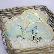 Посуда ручной работы. Ярмарка Мастеров - ручная работа Тарелки керамические Прозрачность-2. Handmade.