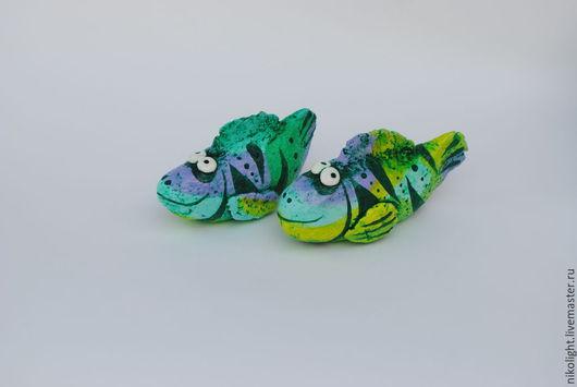 Радужные рыбки. Авторская работа. Авторы - Николай и Надежда Поповы.