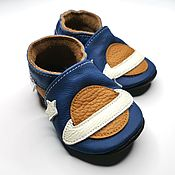 Работы для детей, handmade. Livemaster - original item Space Baby shoes, Baby moccasins, Leather baby shoes,Ebooba. Handmade.