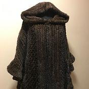 Одежда handmade. Livemaster - original item Poncho of knitted mink