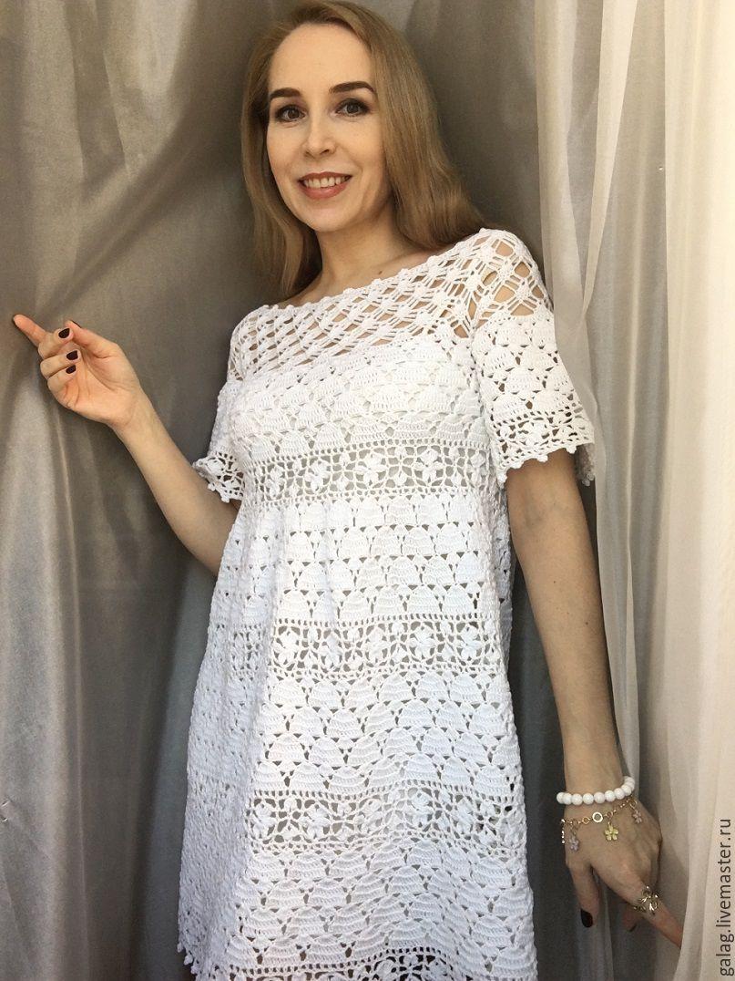Ажурное платье крючком: схема вязания и подробное описание работы