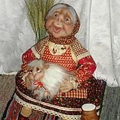 Куклы и игрушки ручной работы. Ярмарка Мастеров - ручная работа Бабушка с козой. Handmade.