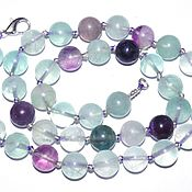 Работы для детей, handmade. Livemaster - original item Beads of genuine fluorite.. Handmade.
