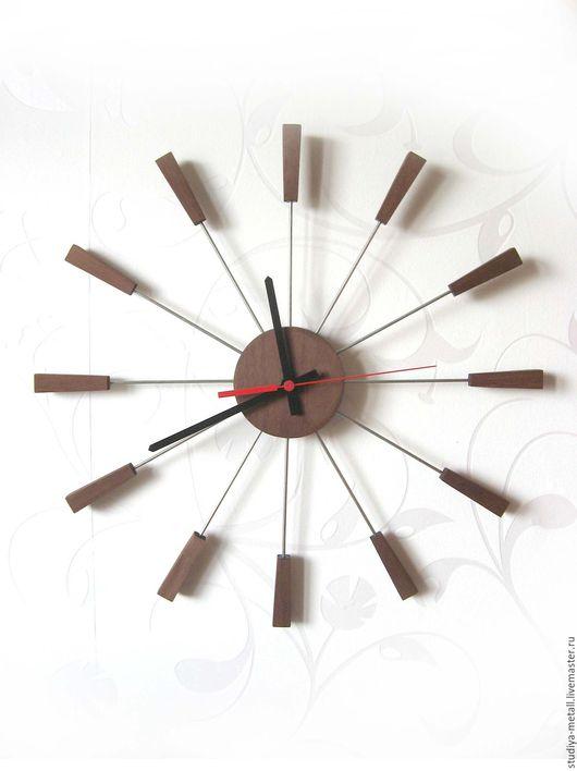 Часы для дома ручной работы. Ярмарка Мастеров - ручная работа. Купить Часы настенные из дерева.. Handmade. Часы