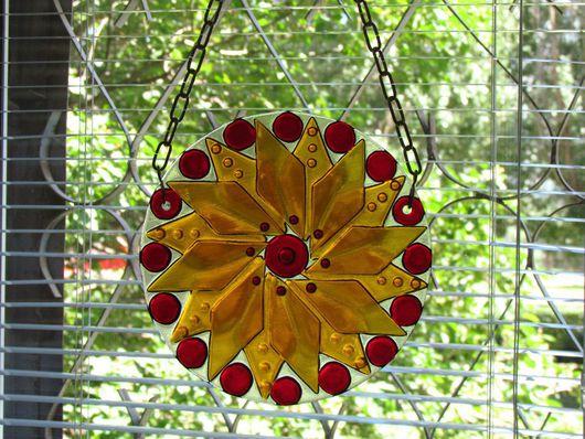 Элементы интерьера ручной работы. Ярмарка Мастеров - ручная работа. Купить Подвеска на окно Ловец солнца и света. Handmade.
