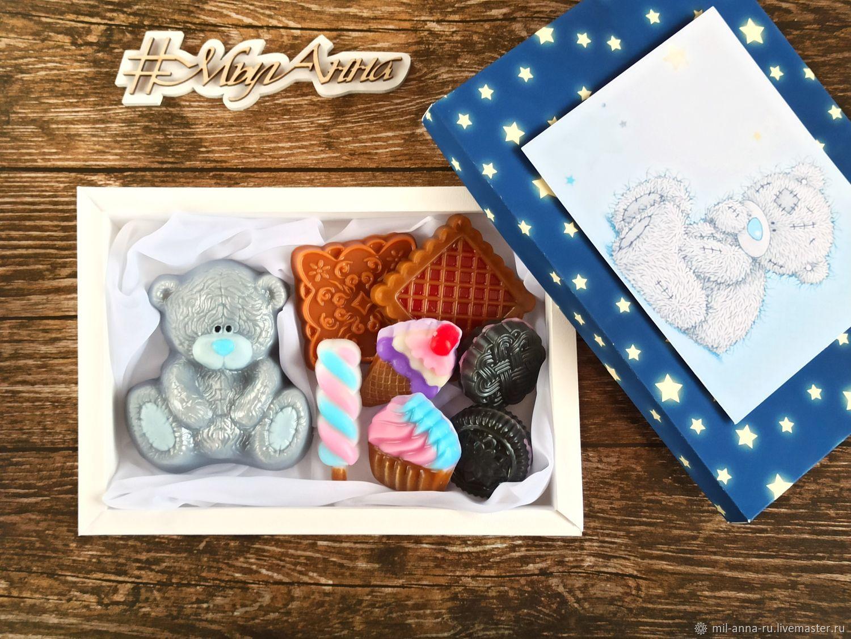 Set of handmade soap ' Bear and sweets', Soap, Rossosh,  Фото №1