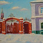 """Картины и панно ручной работы. Ярмарка Мастеров - ручная работа """"Старый город"""". Handmade."""