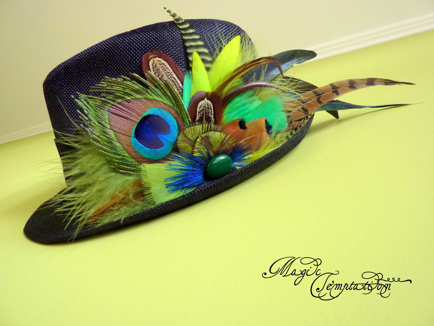 Fedoras & formal hats handmade. Livemaster - handmade. Buy hat with feathers.Boho, solid, sohostel, feathers, agate