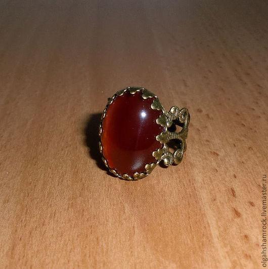 """Кольца ручной работы. Ярмарка Мастеров - ручная работа. Купить Перстень талисман """"Смородина"""" (Красный Агат). Handmade. Кольцо, подарок"""