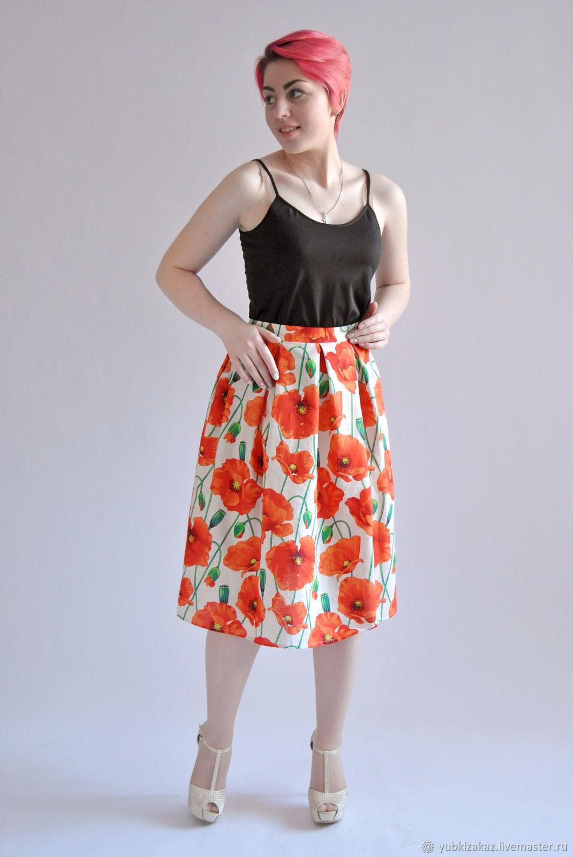 Skirt Poppies cotton 100%.