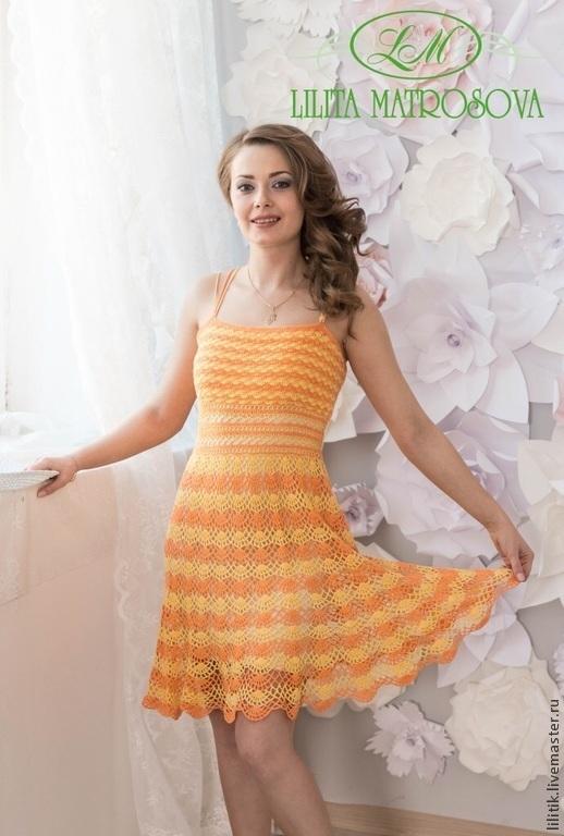 """Платья ручной работы. Ярмарка Мастеров - ручная работа. Купить """"Яркое лето"""". Handmade. Разноцветный, летнее платье, мастерская лилита"""