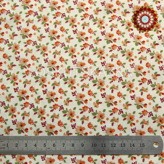 Ткань хлопок `Цветки апельсина`. Код товара: DFS-00125