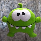 Детская подушка ручной работы. Ярмарка Мастеров - ручная работа Ам Ням подушка-игрушка (большая). Handmade.
