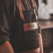 Для дома и интерьера ручной работы. Ярмарка Мастеров - ручная работа Фартук бармена №1.. Handmade.