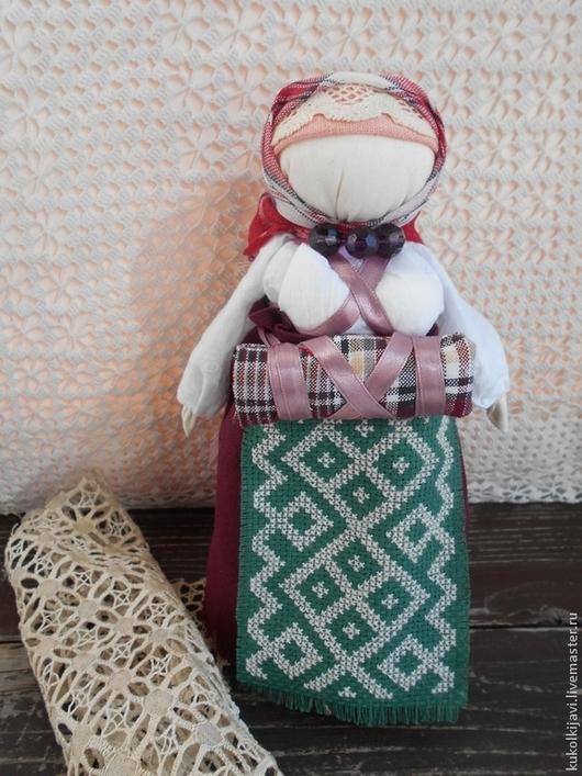 Народные куклы ручной работы. Ярмарка Мастеров - ручная работа. Купить Кукла на беременность.. Handmade. Бордовый, кукла ручной работы