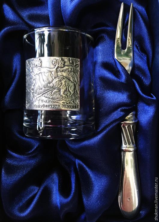 """Подарки для мужчин, ручной работы. Ярмарка Мастеров - ручная работа. Купить Набор """"КАБАН. ОХОТА"""" с закусочной вилочкой. Подарок охотнику.. Handmade."""