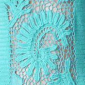Одежда ручной работы. Ярмарка Мастеров - ручная работа Вязанное крючком платье с кружевными вставками. Handmade.